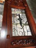 Double porte en bois en bois solide d'entrée avant pour la villa (GSP1-030)