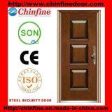 Porte en acier bon marché de Chambre moderne (CF 123)