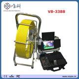 Prezzo di fabbrica un video da 8 pollici, testa di macchina fotografica Self-Levelling, 8 alto indicatore luminoso LED, macchina fotografica V8-3388 di controllo della conduttura della fogna
