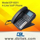 4 lignes téléphone VoIP EP-8201