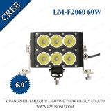 새로운 60W 120W 180W 240W 300W 360W 480W 600W 크리 사람 Xml 똑바른 LED 표시등 막대 두 배 줄