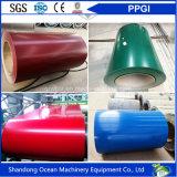 Le bobine galvanizzate preverniciate/colore delle bobine/PPGI dell'acciaio hanno ricoperto le bobine d'acciaio per materiale da costruzione