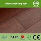 Sépia souillée par plancher en bambou conçue de Strandwoven HDF