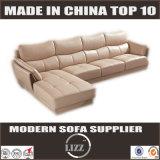 Sofà di cuoio del salone con il Chaise (Lz997)