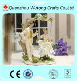 Pièces maîtresses faites sur commande de Tableau de figurines de couples de mariage de résine Wedding la décoration