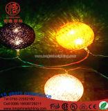 Decoração ao ar livre do Natal da luz da corda da esfera 10m do diodo emissor de luz 5m 8m
