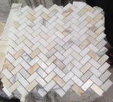 Azulejo de mosaico de piedra blanco de Calacatta Carrara