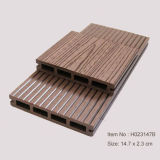 Outdoor Waterproof Wooden Plastic Composite Decking / WPC Outdoor Decking (HO023147)