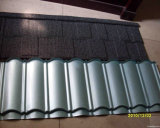 Klassischer Typ Stein-überzogenes Aluminium Metals Dach-Fliesen