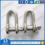 ステンレス鋼SS304またはSS316 Dの手錠の弓手錠