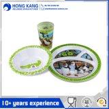 Kundenspezifisches Firmenzeichen-Mehrfarbenmelamin-Essgeschirr-Abendessen-Set für Gaststätte