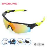 Deporte al aire libre del 100% polarizada gafas Gafas de sol Anti-UV - Negro