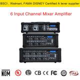 Mezclador de alta potencia de 6 canales con USB/SD/reproducción de MP3 con pantalla LCD