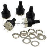 Mini interruptor rotatorio negro plástico de 8 posiciones RS16