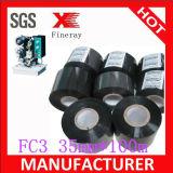 FC3 35mm*100m de Zwarte Hete Folie van de Codage/Heet het Stempelen Lint/Hete Folie die Band voor de Zakken die van het Voedsel merken Vervaldatum afdrukken