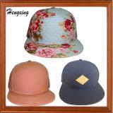 5 chapeaux floraux spéciaux faits sur commande de Snapback de panneau