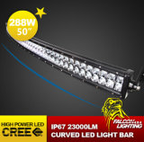 曲げられた50 Inch 288W Double Row LED Light Bar