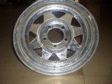 電流を通されたトレーラーの鋼鉄車輪14X6