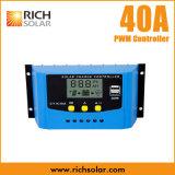 Solardes regler-40A Bildschirmanzeige PWM Controller USB-der Ladung-12V 24V LCD für Batterien