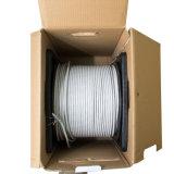 Sin blindaje del cable LAN 6 Funda de PVC LSZH Aislamiento Bc CCA Cu DC el cable de 305m