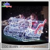 Lumières de motif d'utilisation de la décoration extérieure 2D DEL Sleigh de vacances