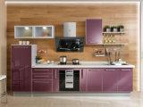 カラーの北アメリカの現代光沢度の高い食器棚