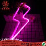 Indicatore luminoso al neon di notte LED della lampada a forma di del lampo per la decorazione della camera da letto del bambino
