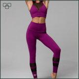 Calças elevadas impressas costume da ioga da cintura