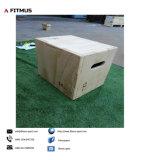 Caja de madera pequeños Plyometric 12pulgadas 16pulgadas 18pulg.