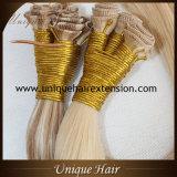 La double trame dessinée de cheveu attachée par main la plus de haute qualité