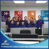 Kundenspezifische volle Sublimation-erstklassiges Team-Uniform-Polo-Hemd mit Brust-Firmenzeichen