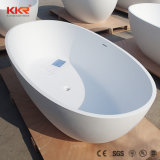Vasca da bagno indipendente di pietra artificiale bianca contro l'inquinamento della STAZIONE TERMALE del Matt