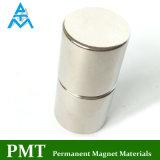 N45 de Hoge Magneet van het Neodymium van de Cilinder met de Deklaag van het Nikkel