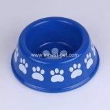 De poot-Drukken van het Product van het Huisdier van de Fabriek van China de Plastic Blauwe Kom van de Hond van de Kat