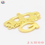 Contrassegni materiali dei vestiti del metallo in lega di zinco ecologico su ordinazione di marchio di alta qualità