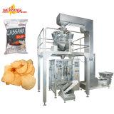 Automatische Imbiss-Kartoffelchip-Chipsletten stießen trockene Verpacken- der Lebensmittelmaschine luft