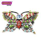 중국 공급자 싼 도매 합금 나비 자석 인공적인 브로치