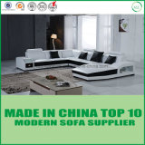 Heißer Verkaufs-europäisches echtes Leder-Form-Wohnzimmer-Sofa