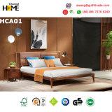 Bâti en cuir réglé de meubles de chambre à coucher en bois de chêne de type de pays (HCA03)