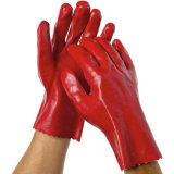 Guante de protección de la mano de la seguridad de PVC