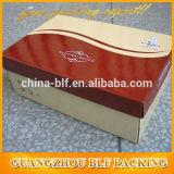 Caixas de sapata impressas costume de dobramento pretas impressas do papel ondulado