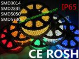 El alto voltaje IP67 impermeabiliza la luz flexible de la cinta del LED