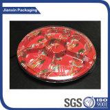 5 compartimenten om de Bloemen Afgedrukte Hoogste Doos van de Sushi van de Rang Plastic met MistDeksel