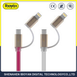 2 en 1 USB Cargador cable de datos para teléfono móvil