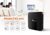 Amlogic S905W] El rectángulo 4K HD lleno Tx3 mini 2GB 16GB de la TV vende al por mayor el rectángulo elegante androide de la tapa del aparato de TV