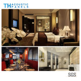 Teto acústico decorativo interior amigável da fibra de poliéster de Eco para o hotel