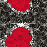 100%Polyester Red and Black 3D Disperses Printed Fabric for Bedding Set