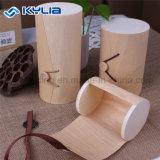 Контейнеры цилиндра круглой формы расшивы изготовленный на заказ березы природы размера деревянные