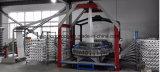 -円の織機を並べさせる機械にPPによって編まれる袋
