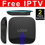Custom Made IPTV gratuite Android TV Box Quad Core 2GO+16GO